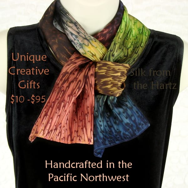 Handcrafted unique creative Pacific Northwest silk gift